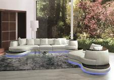 Runde Design Leder Sofa Couch Polster Eck Garnitur Sitz Wohnlandschaft Neu A1159