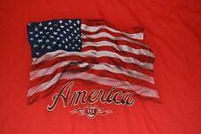 Red American Flag USA America T-Shirt Tee Brand New