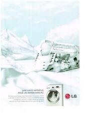 PUBLICITE advertising   2008   LG  LAVE LINGE VAPEUR machine à laver