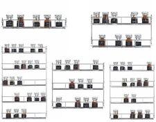 1/2/3/4/5 Tier Cuisine Rack Herb Spice Jars Armoire de rangement porte/mur monté