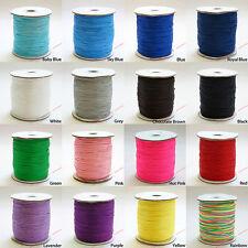 220 YARD 1mm Chinese Knot Nylon Shamballa Macrame Cord Braided Beading String