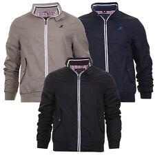 Mens Light Weight Jacket Mod Retro Harrington Golf Coat Checked Lined Kangol