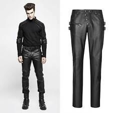 PUNK RAVE Rockstar Pants Markante Kunst-Lederhose für Herren Gothic-Hose Leather