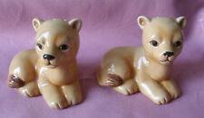 VTG Cute LION CUBS Salt Pepper Shakers, ceramic
