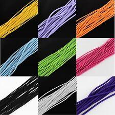3-5 Meter Gummischnur Gummilitze 2-4 mm Smokegummi Elastic Cord Rundgummi Farben