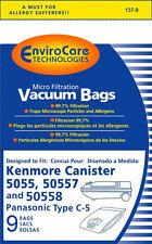 Kenmore Panasonic 5055 50557 50558 Vacuum Bags Type C & Q Micro Filtration