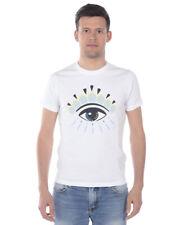 T shirt Maglietta Kenzo Sweatshirt EYE Cotone Uomo Bianco 4YC 5TS049 1