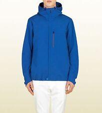NEW Gucci Mens Electric Blue Heat Sealed Windbreaker Coat 347511 4372