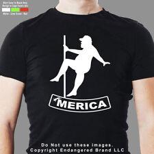 'Merica Fat Man Pole Dancer Right Funny Sexy Men's T Shirt