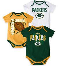 NFL Green Bay Packers INFANT 3-Point Spread Bodysuit Set (Set of 3)