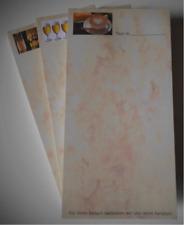 3 verschiedene Motive Kellnerblöcke Notizblöcke aus Marmorpapier+WM Spielplan A3