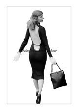 Vintage 1950 Sewing Pattern Backless Wiggle Dress Daisys Vikki Dougan VTG Skirt