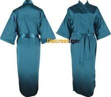 Green Satin Robe Full Length Kimono Dressing Gown Bridal Party Sizes 6 to 24