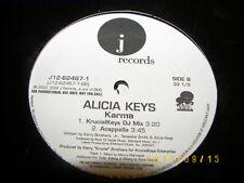 "Alicia Keys Karma 12"" Single *PROMO* NM 2004 J12-62467-1"