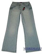 H.I.S Jeans NEU Stretch Gr.34-48 Damen Hose Weit HIS Used Blau L32 Stretch Denim