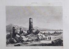 1834.Stampa/Acciaio=SELINUNTE Ruderi Antichi=SICILIA.Italie Pittoresque.ETNA