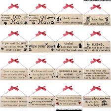 Shabby Chic Plaque Sentimental Word Plaques Gift Wooden Plaques 10cm x 25cm