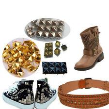 100pcs 6-12mm Square Rivet Stud Spots Spikes Punk For Clothes Shoes Bags Decor