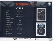 Pair of Oragon by Klipsch In Wall Stero Speakers OR8S