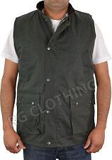 Mens Padded Body Warmer Wax Vest/Jacket Hunting Fishing Shooting Farming M-3XL