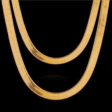 Fashion Men Women 18K Gold Plated Snake Chain Choker Necklace Jewelry 3/4/5MM
