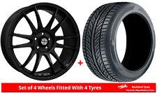 Alloy Wheels & Tyres 8.0x18 Calibre Suzuka Black Gloss + 2254018 Tyres