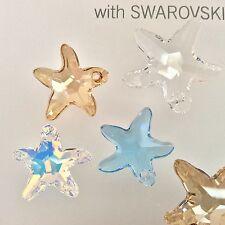Swarovski® Crystal Starfish Pendant #6721 - 16mm & 20mm - Choose Color 1 PC. PK.