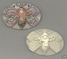 Lg Fancy Butterfly Lady Cab Handmade Polymer Clay Mold