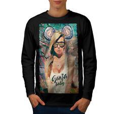 Ganja Baby Glamour Men Long Sleeve T-shirt NEW   Wellcoda