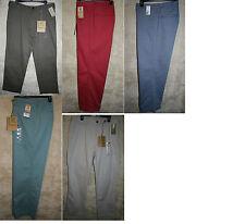 NWT Life Khaki Flat Zipper Front Khaki pants 5 pocket Colors Cotton Polyester