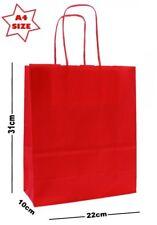Rouge A4 papier Parti Sacs Cadeau ~ boutique shop Sac ~ Choisir Quantité