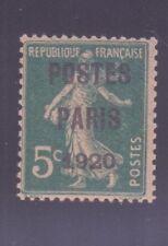 """FRANCE PREOBLITERE 24 """" POSTES PARIS 1920 """" NEUF xx TTB"""