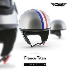 MOTO D22 BRAINCAP - JET-HELM Halbschalen-Helm Vespa Scooter Motorrad-Helm FRANCE