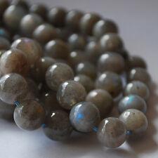 "16"" Semi-Precious Gemstone Labradorite Round Beads 4mm, 6mm, 8mm, 10mm. 12mm"