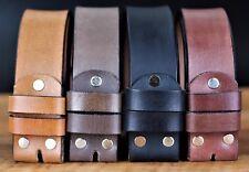 Leather Mens Belt Strap 100% Genuine FullGrain Real Black Brown Tan Coffee Jeans