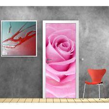 Adesivi porta semplice rosa 852