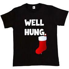 Well Hung Endowed Christmas Stocking Funny Mens T-Shirt