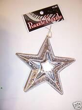 Silver Jewel Metal Star Patriotic Decoration Christmas