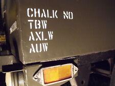 Remorque sankey militaire land rover expédition stencil