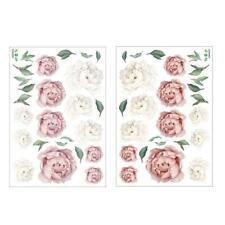 Peony Rose Flower Blossom DIY Wall Stickers Kids Art Decal Nursery Baby Dec L0R5