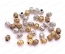 20/50/100Pcs Antique Tibetan Silver Flower Oval Spacer Beads 2MM Hole JK3022