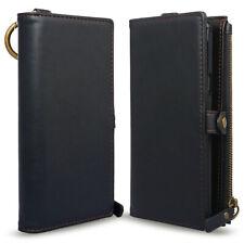 iPhone XR Wallet Zip Case w/ Detachable Slim Case Card Solts Holder Leather Flip