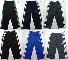 NEW Adidas Boy Black/Blue/Navy Striped Pants-Size 2T,4,5-Orig $30-32