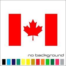 Canada Flag Sticker Vinyl Decal - Canadian Maple Leaf Car Window Bumper Decor