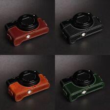 Real Leather Half Camera Case Bag for SONY RX100 V IV III II M5 M4 M3 M2 MARK V