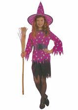 Kostüm Mädchen Hagatha lila Hexe Kostüm Hut Schädel Ghul passend Satz