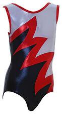 Gymnastic leotard  No Sleeves girls metallic FAST DELIVERY UK 004L