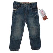 Pampolina Hose Jeans blau mit Schiebeknopf Knittereffekte Jungen  Gr.128
