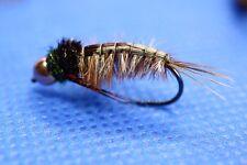 Steinfliegen Nymphen  Messingkopf/Tungsten  Gr.10 und Gr.8 Fliegenfischen Top