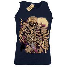 Velocitee Hommes T Shirt Noir Grim Reaper Ange Démon Squelette Goth A18006